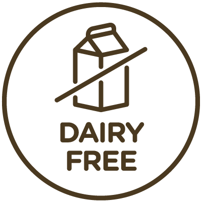 Icon indicating this product is dairy-free.
