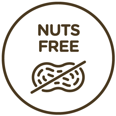 Icon indicating this product is nut-free.
