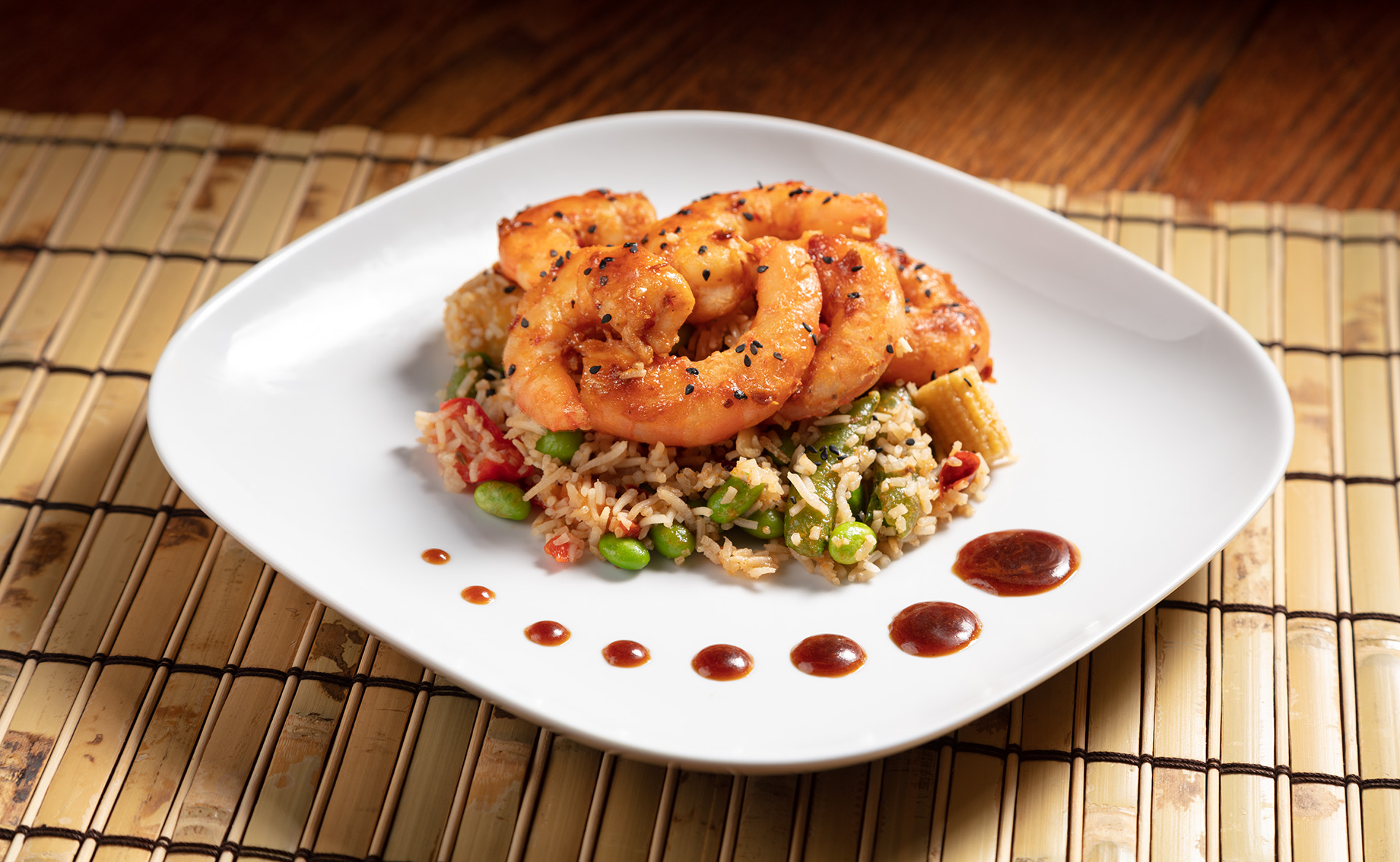 Stir Fried Shrimp looking so good on a plate.
